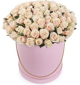 101 роза Талея в шляпной коробке
